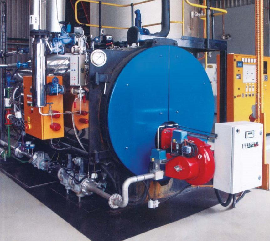 John Thompson Biogas Fired Boiler
