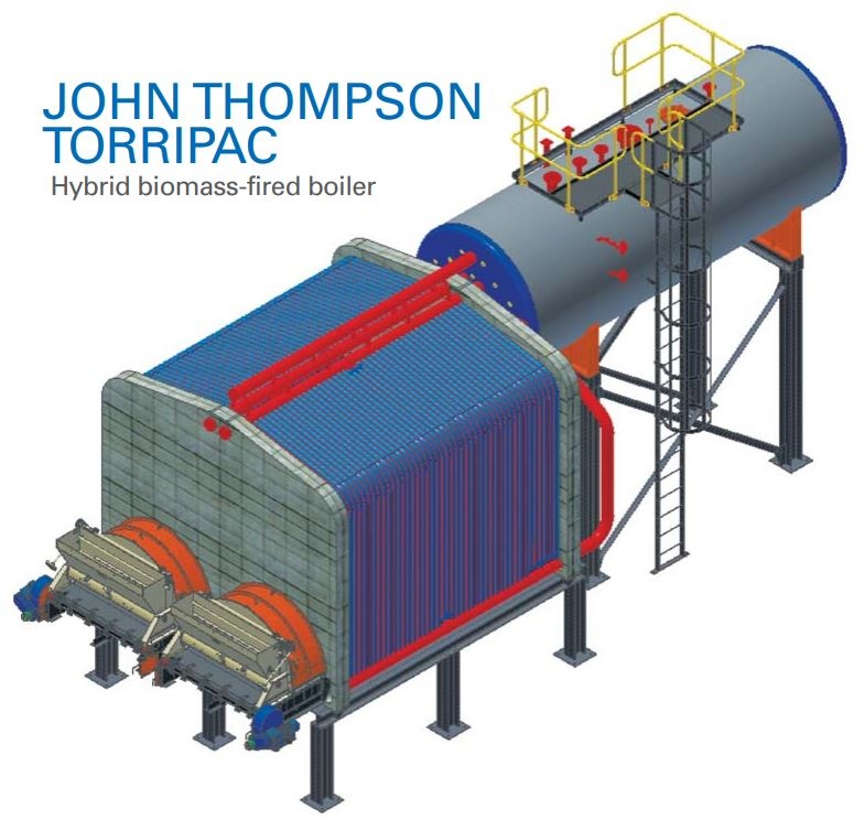 John Thompson Torripac Biomass Fired Boiler