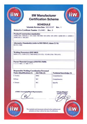 ISO 3834 Part 2 Cert 2 of 2 (Schedule) (002)