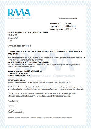 Letter of Goodstanding - MNFRG  ENG - Expires 31 March 2020
