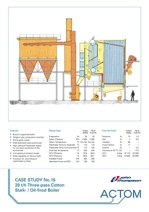 Case Study 15 - 20 th Three-Pass Cotton Stalk Oil-Fired Boiler