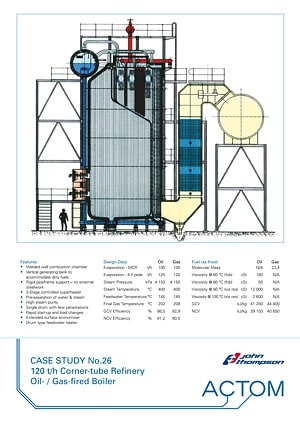 Case Study 26 - 120 th Corner-Tube Refinery Oil Gas Fired Boiler