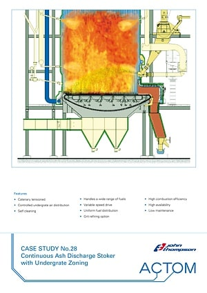 Case Study 28 - Continuous Ash Discharge Stoker with Undergrate Zoning