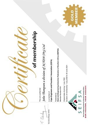 Membership Certificates 02 Oct 2020